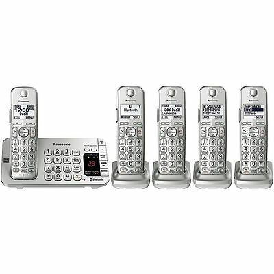 Panasonic KX-TGE475S Link2Cell Bluetooth Cordless Phone System 5 Handsets