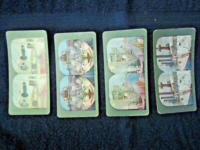 4 Stereo Cards  - Great White Fleet Battleships  - Pre Ww1 1903 -1905