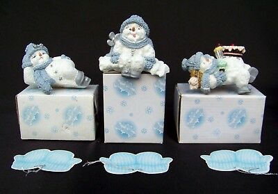 Lot 3 Snow Buddies Crystal Miss Melty Everest Shelf Sitters Encore Figurines