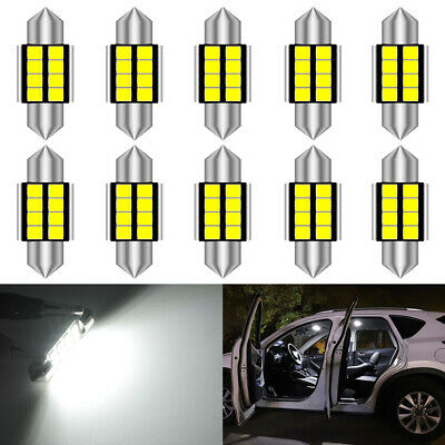 10Pcs Festoon 31mm 12V C5W Car Cree LED Light Reading Dome Map bulb Xenon White