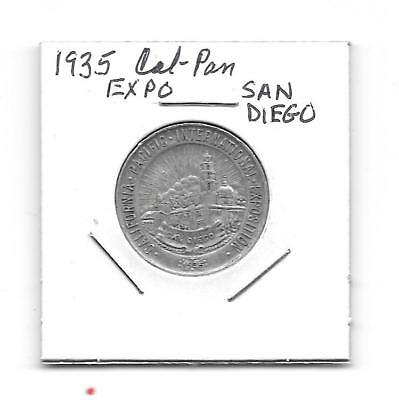 1935 Calif-Pacific Expo Medal- San Diego Nickel Size