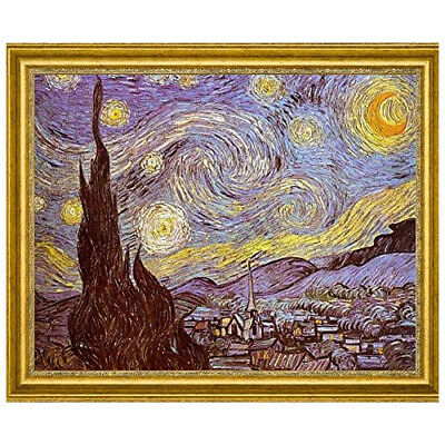 Canvas Art USA 'The Starry Night' by Vincent Van Gogh Framed Painting Print