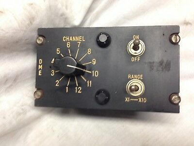 Vintage  Dme Channel Selector Controller Type Vcn 3F Looks Vgc --Untested