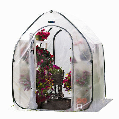Flowerhouse 5 Ft. W x 6.5 Ft. D Mini Greenhouse