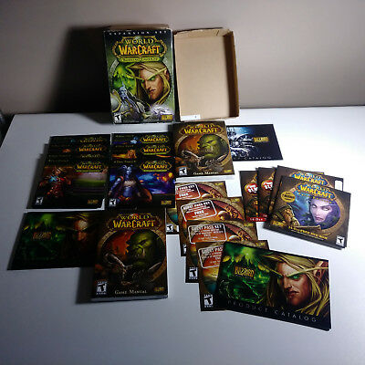 Lot with World of Warcraft: The Burning Crusade Box Plus More Cd Keys Was Used.