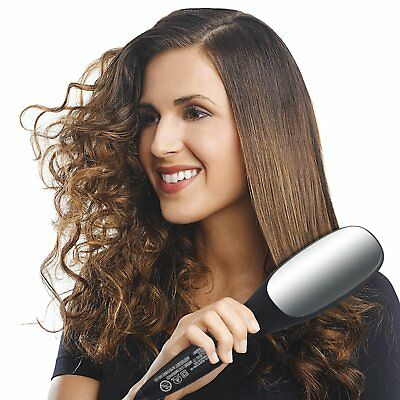3 in 1 Simply Straight Ionic Ceramic Brush Hair Straightener Anti-Scald Comb