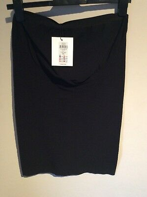 Mamalicious maternity black ribbed bodycon pencil skirt size M/L new with tags