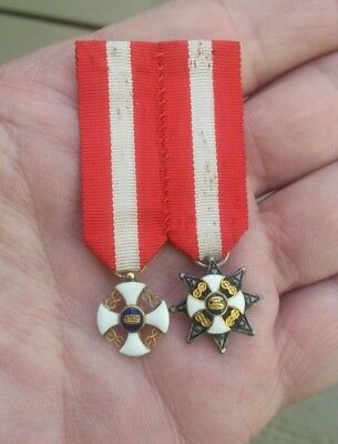 Italy, Kingdom, Order of the Crown, Badge and Star set, period miniature medals