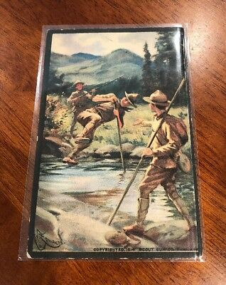 Scout Gum Company 1914 Rochester NY Boy Scout Postcard 7 A