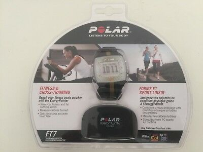 Polar Watch, FT7, Black, Heart Rate Sensor Included, Never Opened