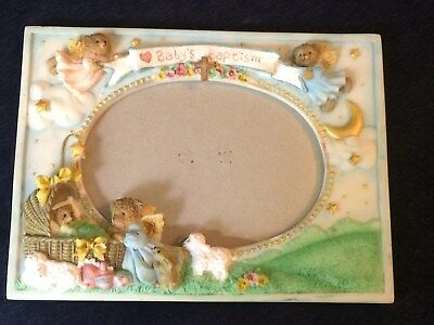 Bear Baby Baptism Picture Frame