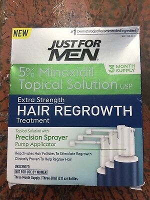 Just For Men 3 Month Supply 5% Minoxidil Topical Solution 10/2019