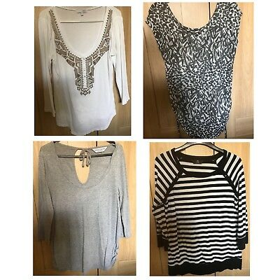 Maternity Clothes NEXT H&M Mothercare size 10 bundle 4 x tops shirts office wear