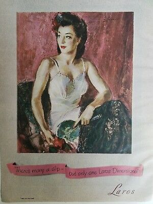 1947 there's only one woman's Laros dimensional slip vintage ad