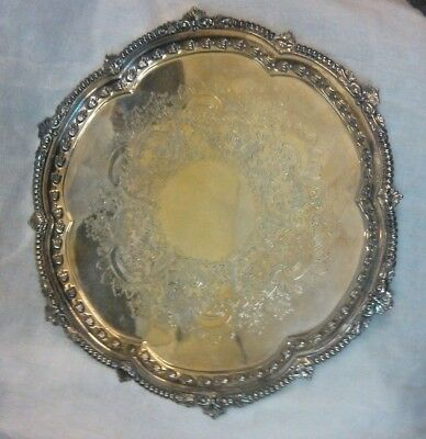 Silver Plate On Copper Serving Plate Tray Made In England