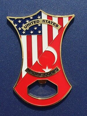 USMC MSG Marine Security Guard Challenge Coin Ankara, Turkey