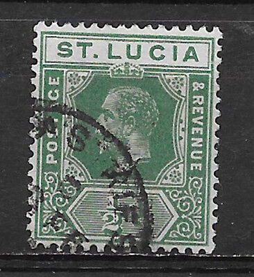 ST. LUCIA , 1912/19 , GEORGE V , 1/2p STAMP , PERF , USED