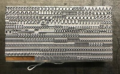 New Letterpress Type - 18pt. Goudy Old Style