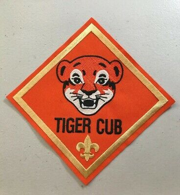 """Boy Scouts Of America BSA Vintage Tiger Cub Rank Large Size Patch 6"""" X 6"""""""