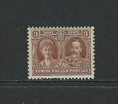 NEWFOUNDLAND - #147 - 3c KING GEORGE V & QUEEN MARY (1928) MLH NICELY CENTERED