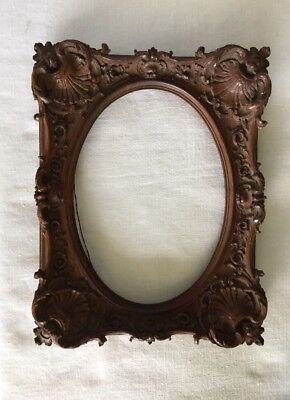 Beautiful Wood Carved Frame Ca. 1880's (?)