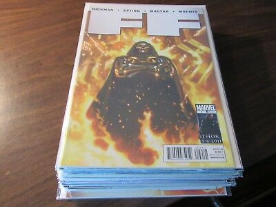 Lot of 22 Different FF Fantastic Four #2-23 Near Complete Set Series Missing #1