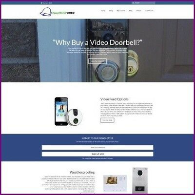 VIDEO DOORBELL Dropshipping Website Business For Sale - Work From Home