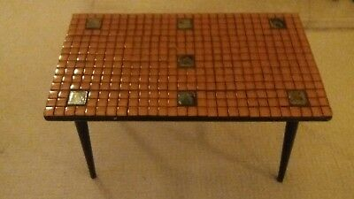 1960s Vintage retro tiled coffee occasional table