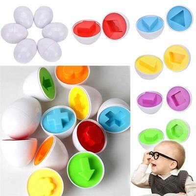 6pcs Eggs Shape Training Puzzle Smart Kids Baby Toy Matching Learning Toy H