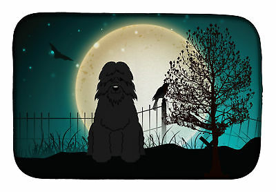 Caroline's Treasures Halloween Scary Bouvier des Flandres Dish Drying Mat