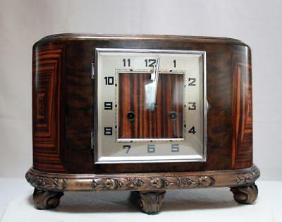 Beautiful Antique Gustav Becker Art Deco  Table Mantle Clock Art Nouveau