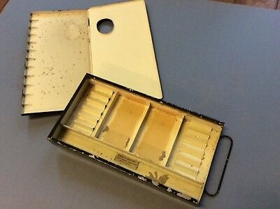 Vintage WINDSOR & NEWTON Watercolor Japaned Tin Box w/ hinged removable cover