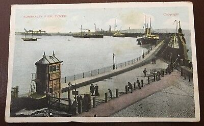 Admiralty Pier Dover, Canterbury Uk, Aerial View 1910 Vintage Postcard
