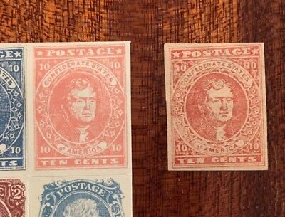 US stamps, Confederate stamps, Jefferson 10c, If Genuine Very High Value