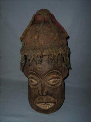 Antique Cameroon Grassland TOP AGED USED WOOD LARGE TRIBAL HEAD MASK