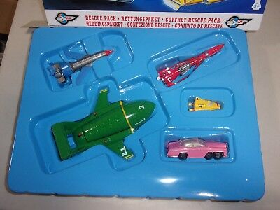 Matchbox Thunderbirds Rescue Pack used 5 vehicles tb1 t2 3 4 fab1 cars planes