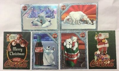 1995 Coca Cola  Premium Collect A Card Lot Of 6 Different Cards