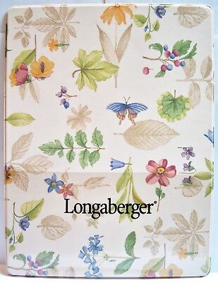Longaberger Botanical Fields Vinyl Writing Lap Board Used By Sales Consultants