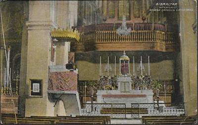 Gibraltar - Interior, Roman Catholic Cathedral - postcard by P&Co c.1910s