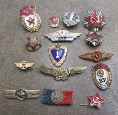 Nice Lot of Vintage Mixed Era Russian Military Pins & Badges No Reserve