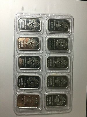 New Scottsdale 1Oz X 10 Bars Of Pure Silver .999 ( Good Investment )
