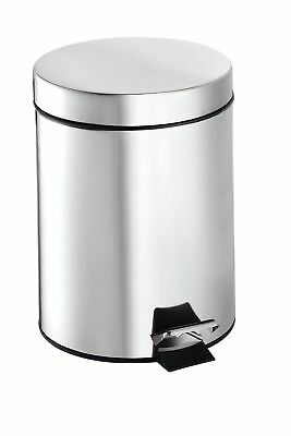 Croydex Britannia Stainless Steel 1.32 Gallon Step On Trash Can