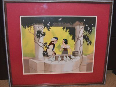 "Disney Snow White, ""At The Well"" Ltd Ed Cel One of 500 Produced 1988 Promotional"
