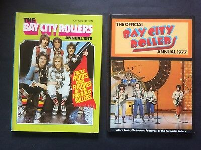 BAY CITY ROLLERS ANNUALS 1976 & 1977 - Good Condition