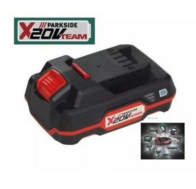 Parkside 20V Li-Ion Battery Compatible with all tools in 20V Team German Made