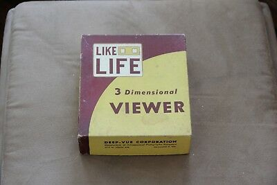 "Like Life Deep -Vue 3 Dimensional Viewer - 1950's ""White"""