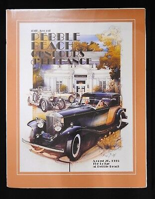 SIGNED 1995 45th Pebble Beach Concours Orig Poster Nethercutt Rolls-Royce