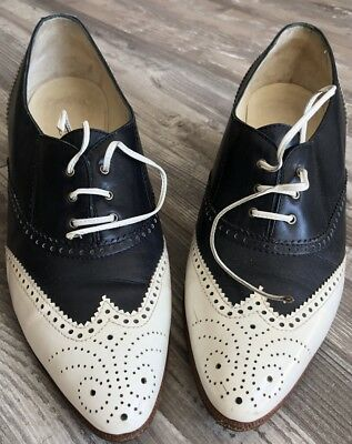 Vintage Hermes Women Shoes Oxford 37 1/2 Made In Italy