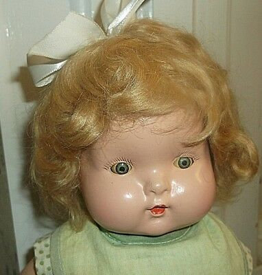 14-inch RARE all composition Little Cherub, 1930s, Phronsie Pepper? READ & VIEW!