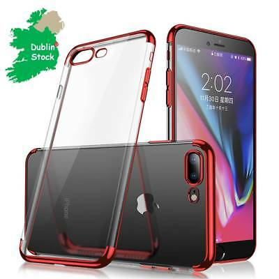 Cafele Thin Plating Soft TPU Transparent Case Bumper Cover For Apple IphoneX678